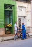 果子商店在哈瓦那,古巴 图库摄影