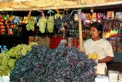 果子商店在缅甸市场上 库存图片