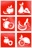 果子图标集 皇族释放例证
