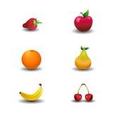 果子图标 库存例证
