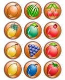 果子图标 免版税库存图片