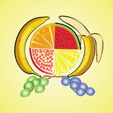 果子套维生素 向量例证