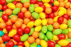 果子形状的泡泡糖 图库摄影