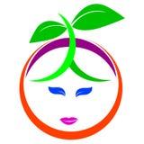 果子徽标 库存图片