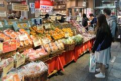 果子摊位,大阪,日本 库存照片