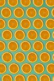 果子柑橘无缝的样式 库存照片