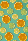 果子柑橘无缝的样式 库存图片