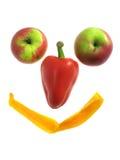 果子查出的微笑白色 免版税库存图片
