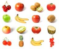 果子查出集合蔬菜 免版税库存照片