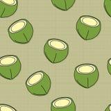 果子样式背景图表椰子 免版税库存照片