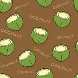 果子样式背景图表椰子 免版税图库摄影