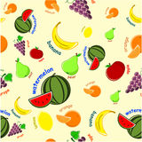 果子模式 免版税库存图片