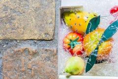 果子模仿用一个西西里人的方式 库存图片