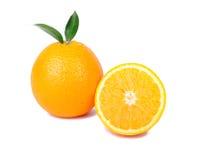 果子橙色白色 免版税库存图片