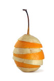 果子混合橙色梨片式 库存图片