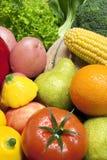 果子混杂的蔬菜 库存图片