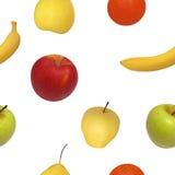果子的传染媒介例证无缝的样式 免版税库存照片