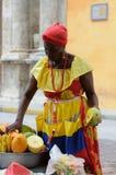 果子的卖主在卡塔赫钠 免版税库存照片