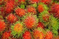 果子红毛丹泰国 免版税库存照片
