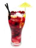 果子红色打孔机鸡尾酒饮料用草莓 免版税库存照片