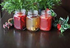 果子茶 茶用森林莓果 圣诞节 免版税图库摄影