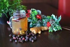 果子茶 茶用森林莓果 图库摄影