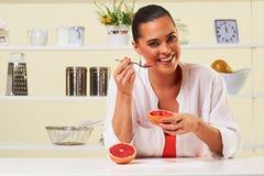 果子葡萄吃快餐健康健康饮食午餐减重 免版税图库摄影