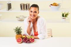 果子葡萄吃快餐健康健康饮食午餐减重 免版税库存照片