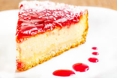 果子蛋糕片断  免版税图库摄影