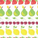 果子行导航无缝的样式白色 向量例证