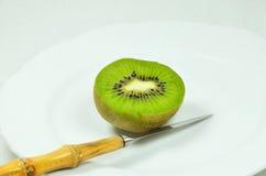 果子被对分的猕猴桃 图库摄影