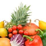 果子设置了蔬菜 免版税库存图片