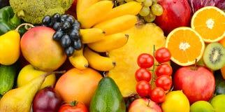 果子设置了蔬菜 库存照片