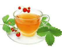 果子通配草莓的茶 免版税库存照片