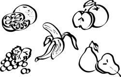 果子集 图画风格化甜点 皇族释放例证