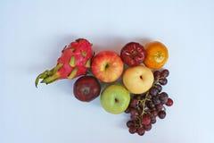 果子顶视图品种  免版税库存图片