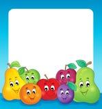 果子题材框架1 免版税库存照片