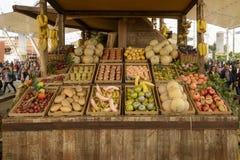 果子食物,商展2015年米兰大模型的陈列在Decumano的 免版税库存图片