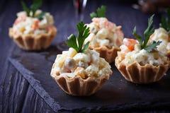 果子馅饼用俄国沙拉,欢乐开胃菜 库存图片