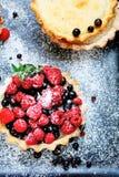 果子馅饼用夏天莓果 免版税库存图片