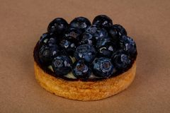 果子馅饼用蓝莓 免版税库存照片