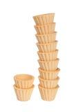 果子馅饼空集作为在白色backgr隔绝的斜塔 免版税库存照片
