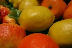 果子,在许多的柠檬果子样式  图库摄影