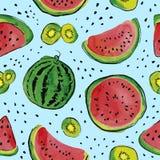 果子水彩样式 免版税库存图片