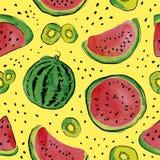 果子水彩样式 免版税库存照片