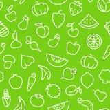 果子仿造无缝的蔬菜 图库摄影