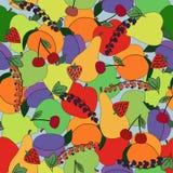 果子仿造无缝 明亮的颜色 库存图片