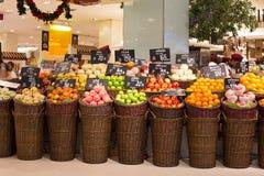 结果实在一个超级市场泰国模范在曼谷,泰国。 免版税图库摄影