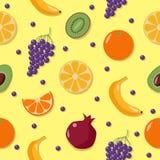 结果实背景 fruits pattern seamless 库存图片
