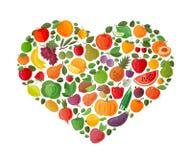 结果实重点做的蔬菜 向量 向量例证